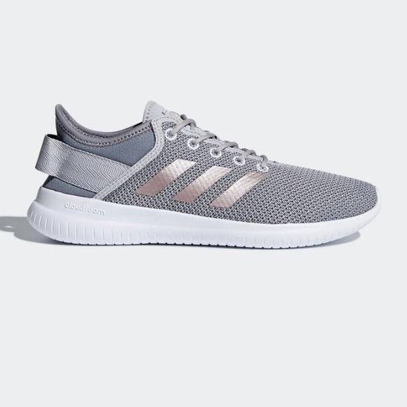 NEW Adidas Gray Cloudfoam QTFlex Running Shoes